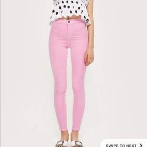 Top shop Joni high rise pink pants